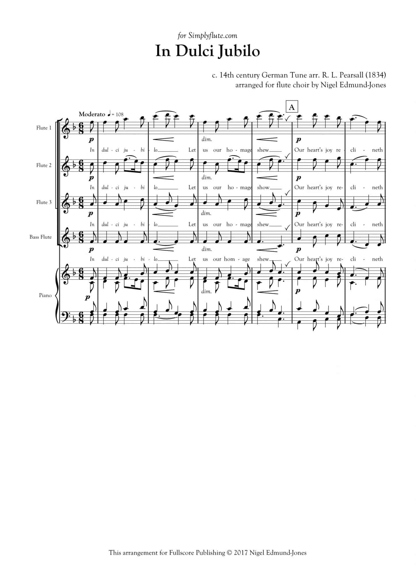Simply Flute - In Dulci Jubilo - all parts_title sheet_no words copy_Part10
