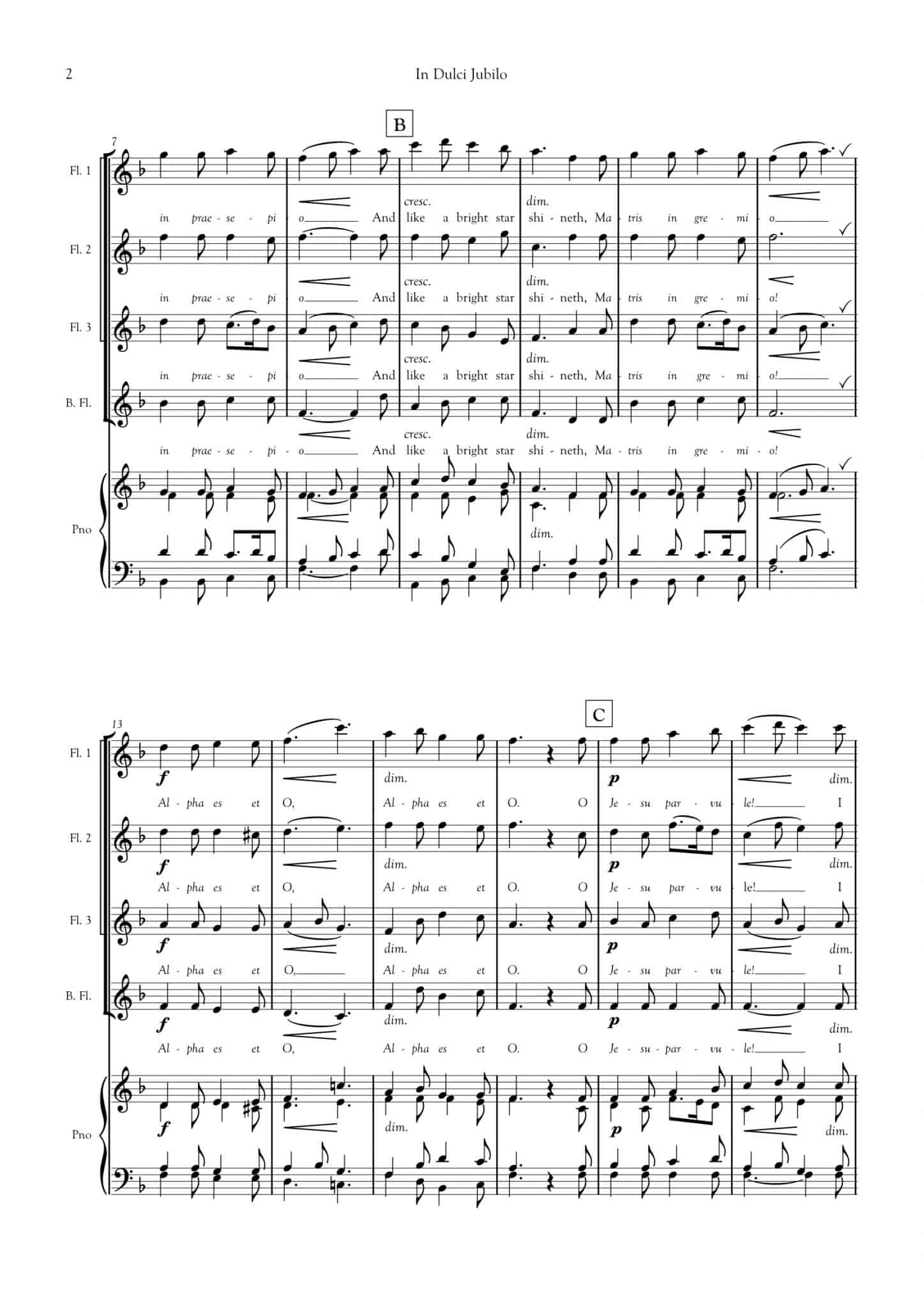 Simply Flute - In Dulci Jubilo - all parts_title sheet_no words copy_Part11
