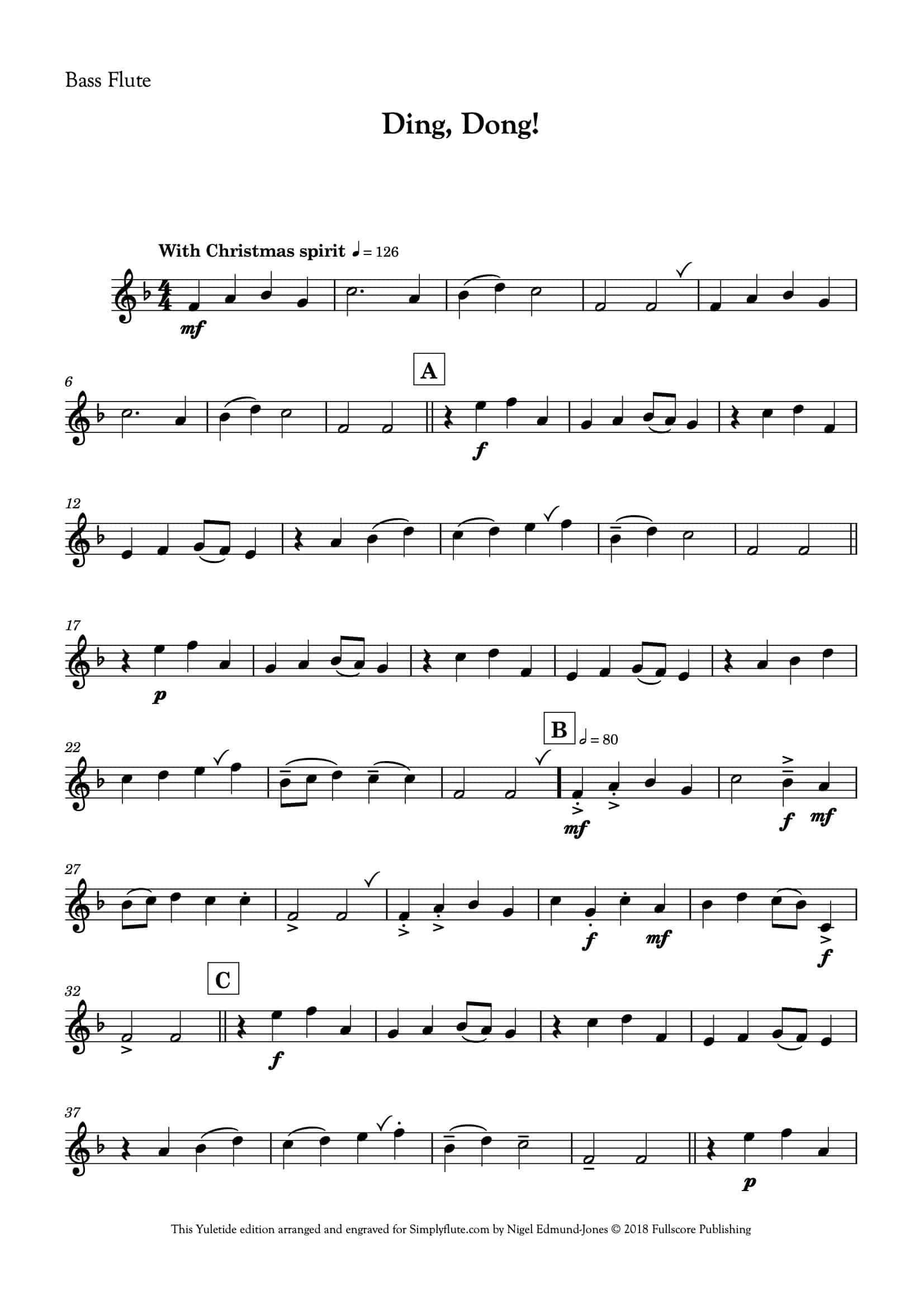 Ding Dong_for flute choir__Simply Flute-17